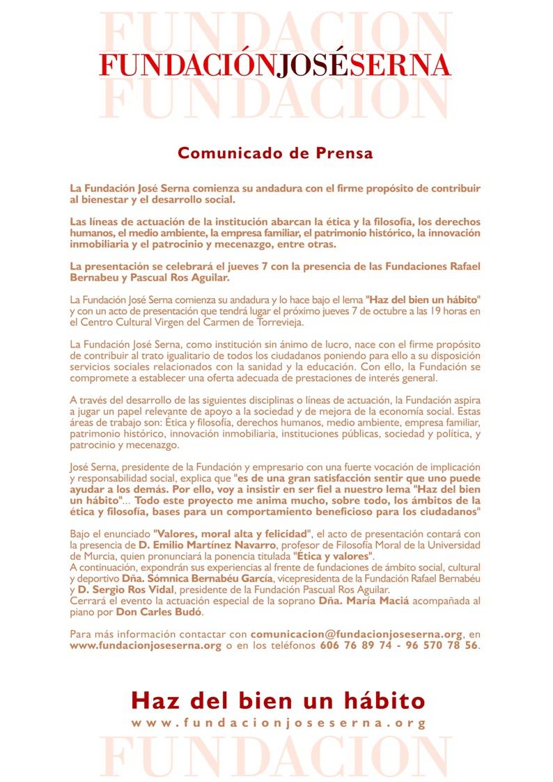Artículo: Rueda de prensa de la presentación de la Fundación